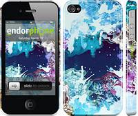 "Чехол на iPhone 4 Цветной узор ""2830c-15"""