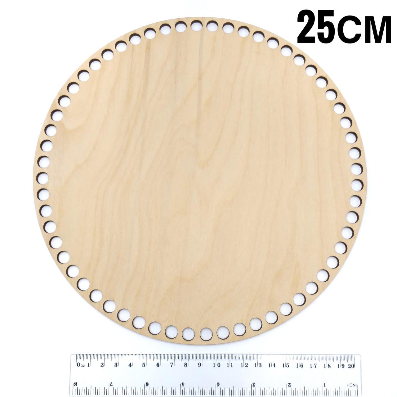 Донышко деревянное круглое диаметр 25 см