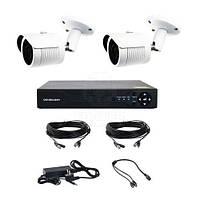 Комплект AHD видеонаблюдения на 2-е уличные камеры CoVi Security AHD-2W KIT