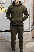 Мужской спортивный утепленный трикотажный костюм с начёсом