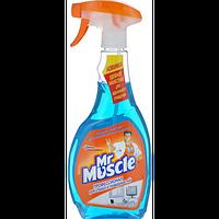 """Засіб для миття скла """"Містер Мускул"""" з розпилювачем, 500 мл, синій"""