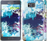 """Чехол на Samsung Galaxy Alpha G850F Цветной узор """"2830c-65"""""""
