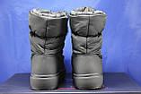 Женские зимние снубутсы, дутики черные с помоном Restime, фото 4