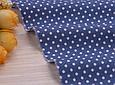 Сатин (хлопковая ткань) горох на синем (компаньон жирафы, бегемоты), фото 2