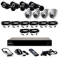 Комплект Установи сам видеонаблюдение – видеорегистратор и 8 камер: 4-е уличные камеры и 4-е купольные CoVi Security FVK-4005 KIT