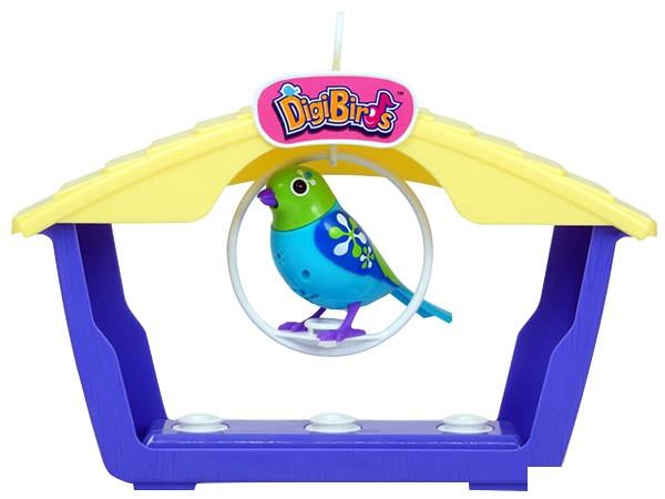 Интерактивная птичка DigiBirds - АТТРАКЦИОН КРИСТАЛЛА домик, качели, свисток