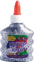 Клей ГЛИТТЕР (для слаймов) серебряный на PVA-основе, прозрачный, 88 мл