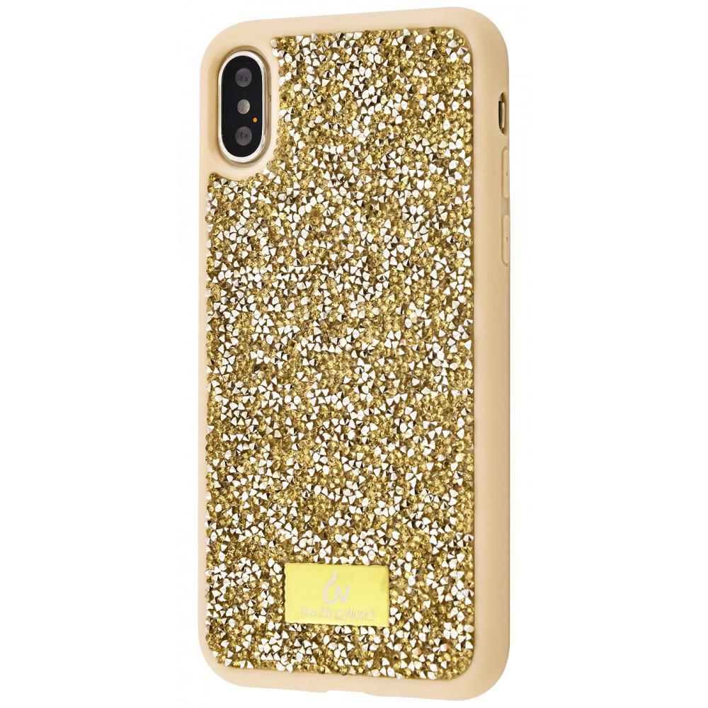 "Чехол-накладка Bling World Grainy Diamonds для Apple iPhone X / XS (5.8"") Золотой"