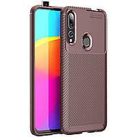 Чехол-накладка iPaky Kaisy Series для Huawei P Smart Z Коричневый