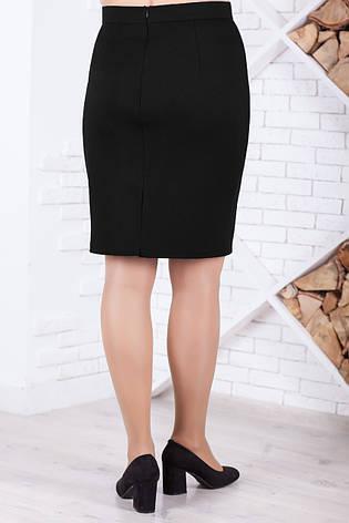 Черная трикотажная юбка больших размеров, фото 2