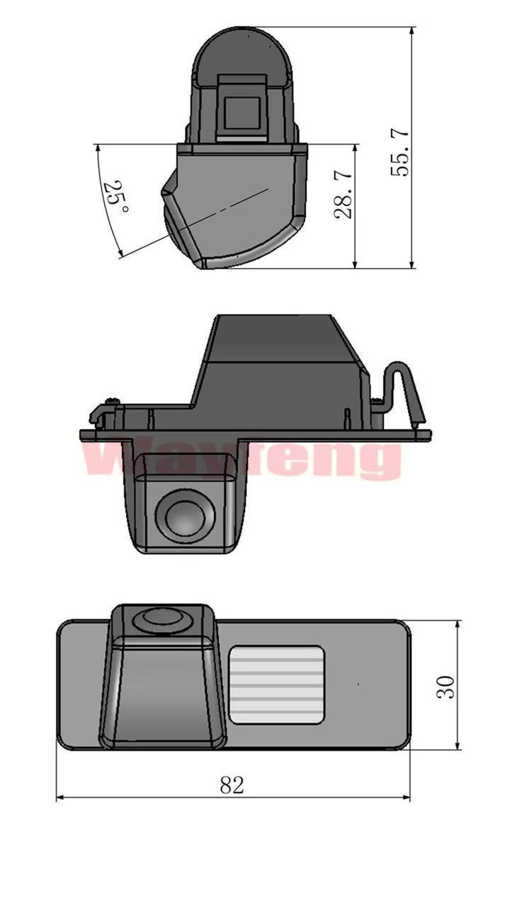 Камера заднего вида универсальная Cadillas SRX CTS цветная матриц CCD