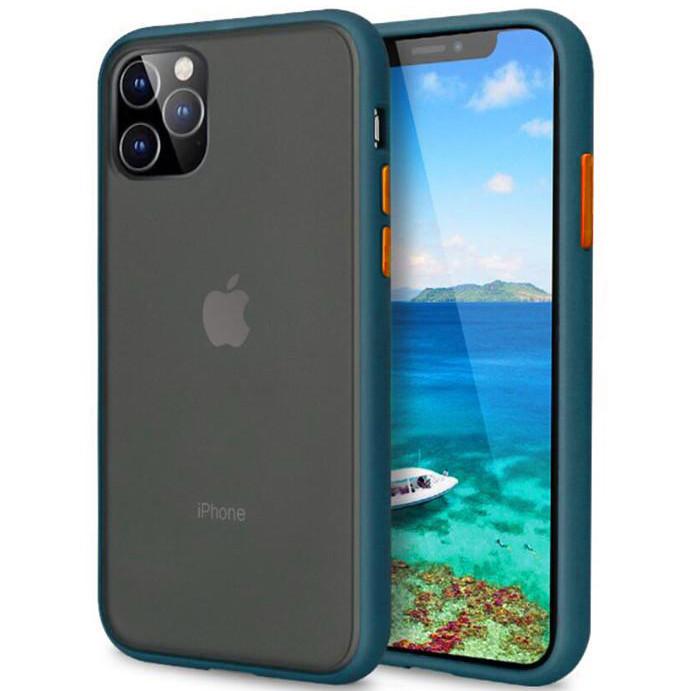 "Чехол-накладка LikGus Maxshield для Apple iPhone 11 (6.1"") Сине-Зеленый / Marine Blue"