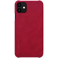 """Кожаный чехол (книжка) Nillkin Qin Series для Apple iPhone 11 (6.1"""") Красный"""