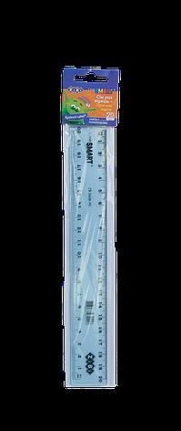 Линейка пластиковая 20 см.,тонированная, ассорти, в блистере,  SMART Line, фото 2