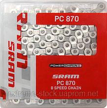 Цепь SRAM PC 870, с замком, 8-ми скоростная