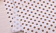 Сатин (бавовняна тканина) горох середній шоколадний, фото 2