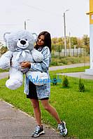 Большой плюшевый мишка, медведь Томми 100см серый