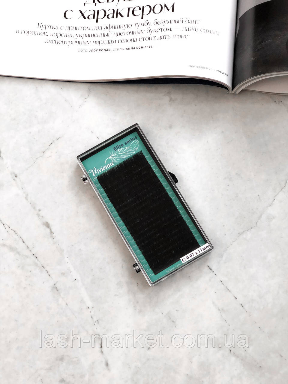 Вії Vivienne Elite Series, чорні C 0.07 11 mm