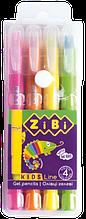 Пастель гелевая JUMBO, 4 цветов NEON, KIDS Line