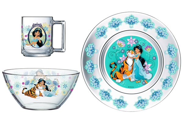 Набір посуду для дітей ОСЗ Disney Жасмин 3 предмети Прозорий (18c2055)