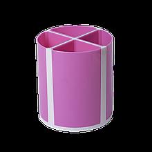 Підставка для письмового приладдя ТВІСТЕР рожева, 4 відділення, KIDS Line