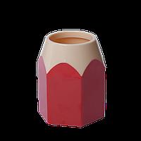 Подставка для ручек КАРАНДАШ, пластик, красная, KIDS Line