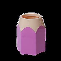 Подставка для ручек КАРАНДАШ, пластик, розовая, KIDS Line