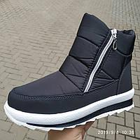 Дутики жіночі черевики 114 чисто чорні