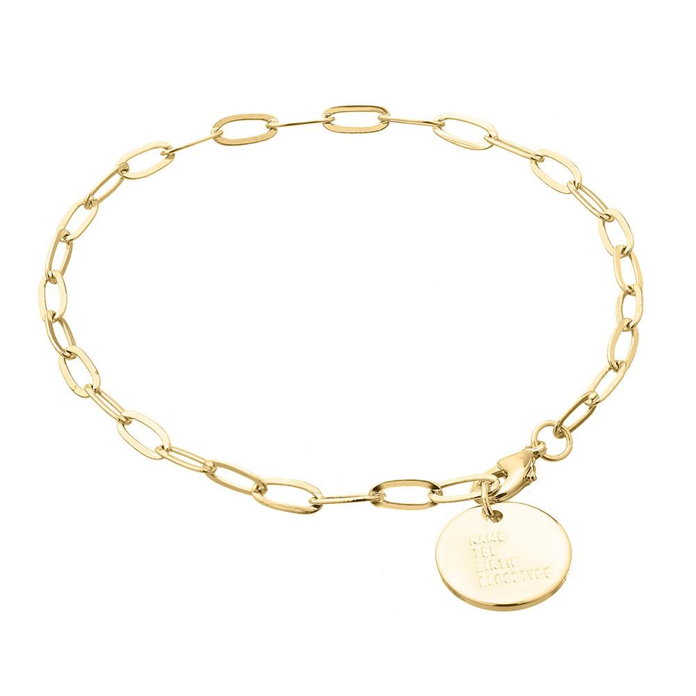 Звеньевый браслет - С подвеской (Золотистый)