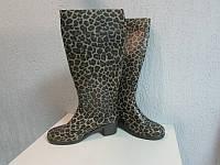Резиновые сапоги на каблучке Леопардовые код 450А, фото 1