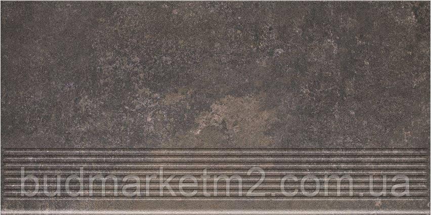 Плитка Paradyz Viano Antracite Stopnica Prosta Struktura Щабель 300х600х11