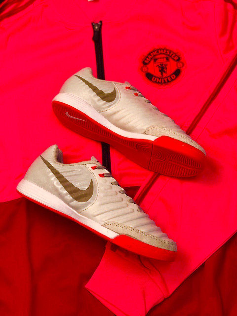 Футзалки Nike Tiempo X/футбольная обувь/найк темпо золотые