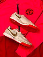 Футзалки Nike Tiempo X/футбольная обувь/найк темпо золотые, фото 1
