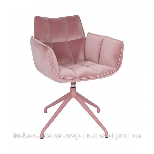 Кресло поворотное Chardonne (Шардонне), пудровый текстиль (Бесплатная доставка), Nicolas