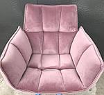 Кресло поворотное Chardonne (Шардонне), пудровый текстиль (Бесплатная доставка), Nicolas, фото 3