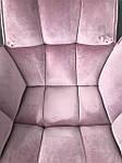 Кресло поворотное Chardonne (Шардонне), пудровый текстиль (Бесплатная доставка), Nicolas, фото 4