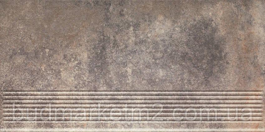 Плитка Paradyz Viano Grys Stopnica Prosta Struktura Ступень 300х600х11