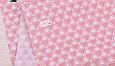 Сатин (хлопковая ткань) треугольник в треугольнике на розовом, фото 2