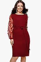 Нарядное женское платье Бордовый