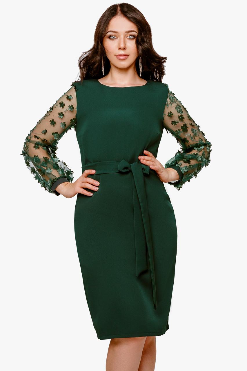 Нарядное женское платье Изумрудный