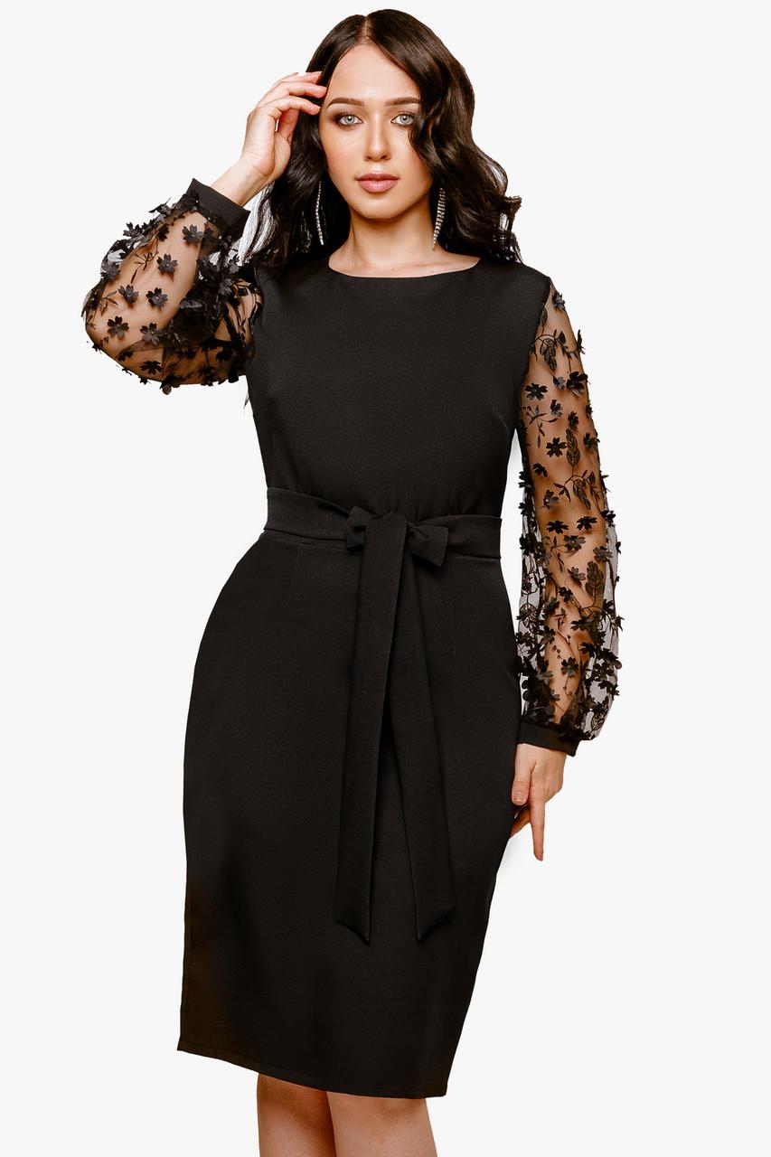 Нарядное женское платье Черный