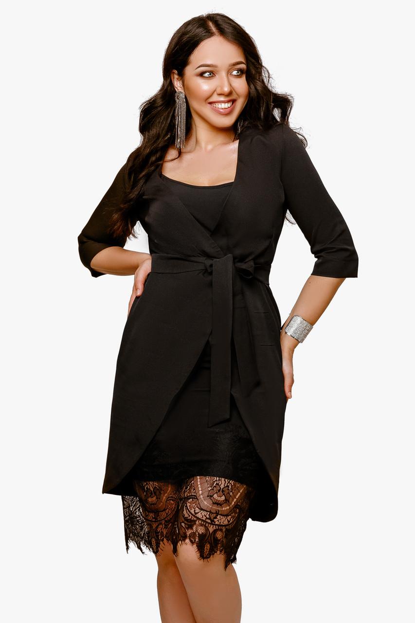 Женское платье-двойка Черный