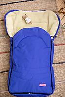Зимний конверт- чехол на овчине в коляску и санки