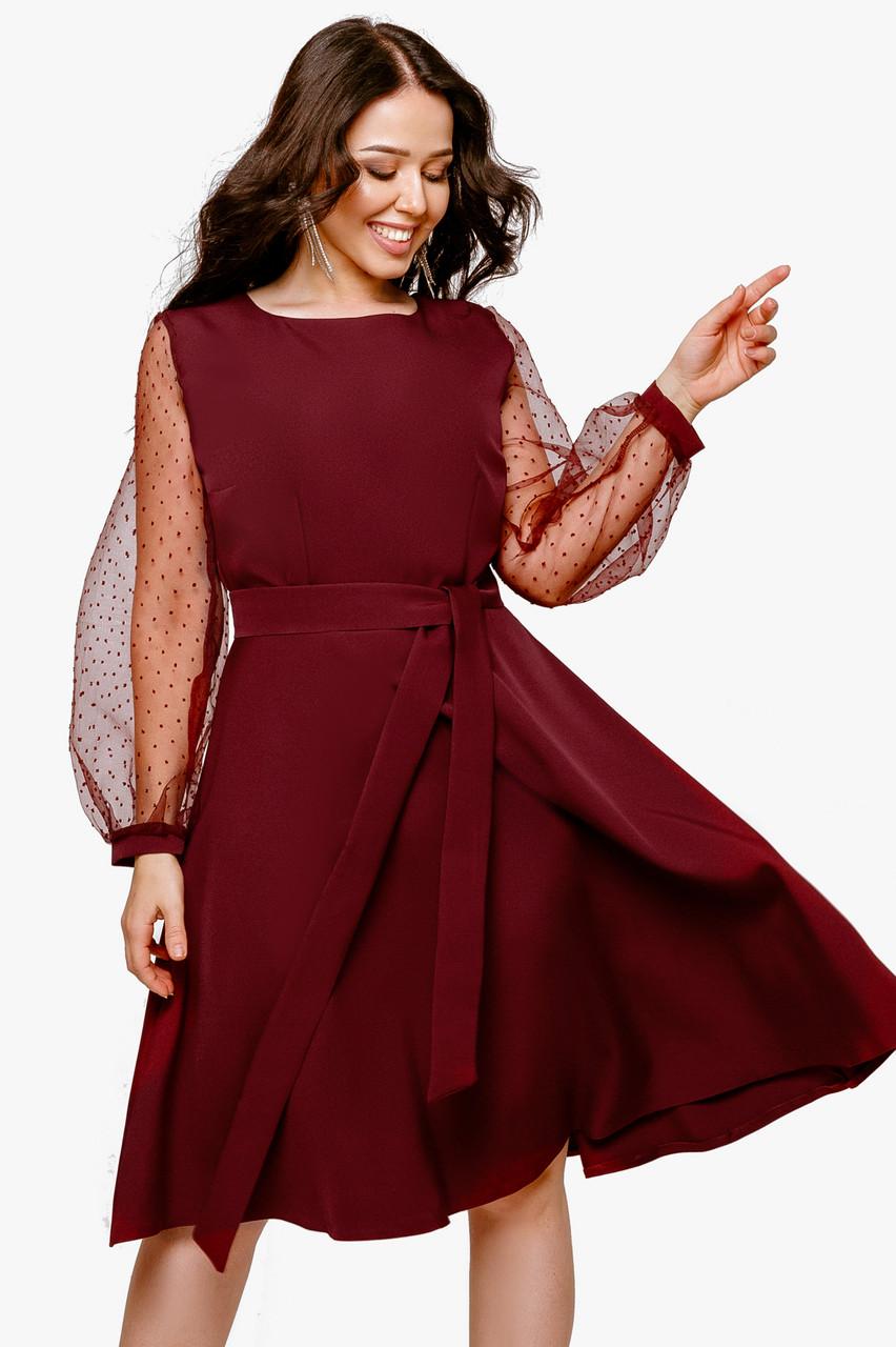 Нарядное платье Марсала
