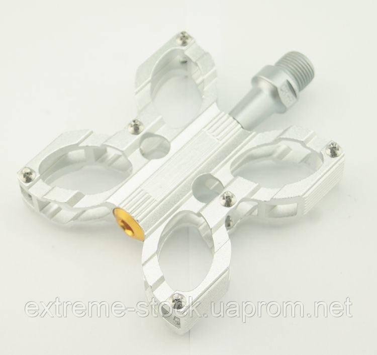 Педали Mpeda AL-221 UltraLight, CNC, промподшипники, серебро