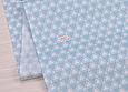 Сатин (хлопковая ткань) треугольник в треугольнике на голубом, фото 3