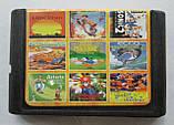 Сборник игр для SEGA 9в1 MA-903 Lion King / Donald Maui / J.Book / Asterix Rescue / Mario 2, фото 3