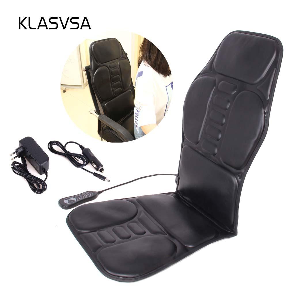 Массажёр электрический Klasvsa с прогревом на кресло + вибромассаж