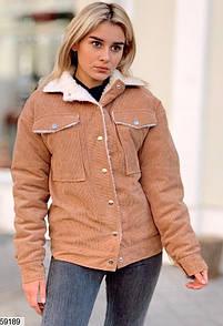 Вельветовая Куртка с Мехом