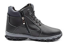 Мужские ботинки зимние утепленные на протекторной подошве, фото 2
